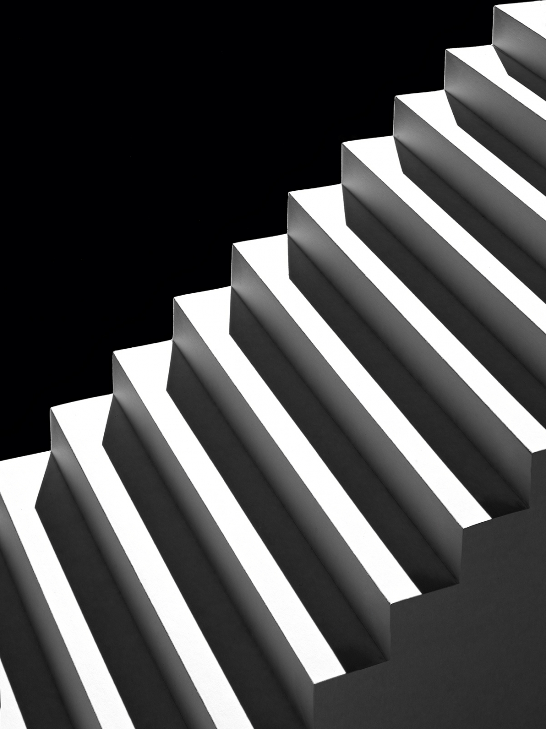 Shadow Spaces Miniature Architecture Crafted From Paper