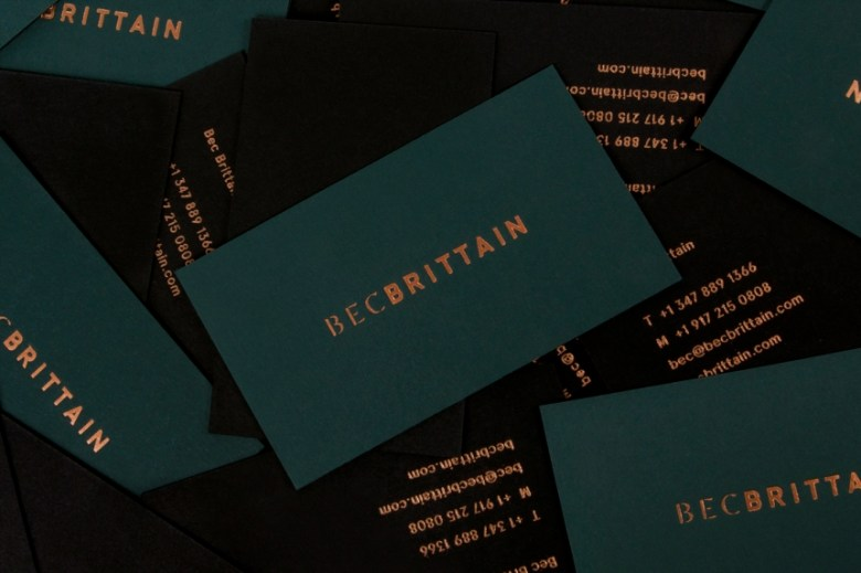 16 amazing business card designs from some of the worlds best described on lotta nieminens portfolio branding and catalogue design for bec brittain a new york based lighting and product designer driven by luxurious reheart Images