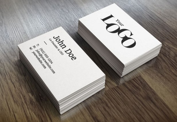 Realistic Free Business Card PSD Mockups with Real Reflection