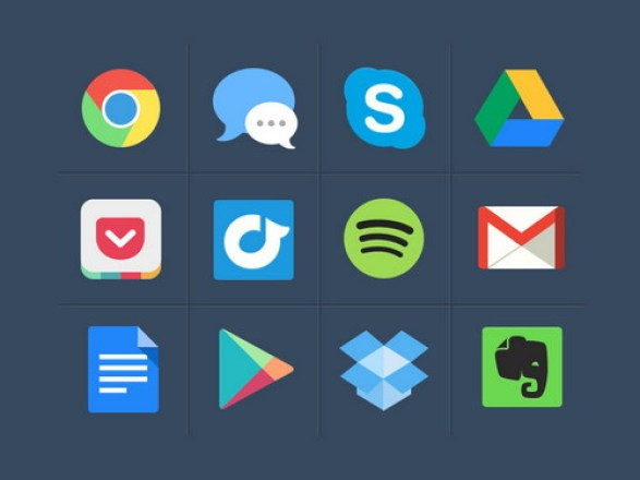 Free colourful PSD Icons
