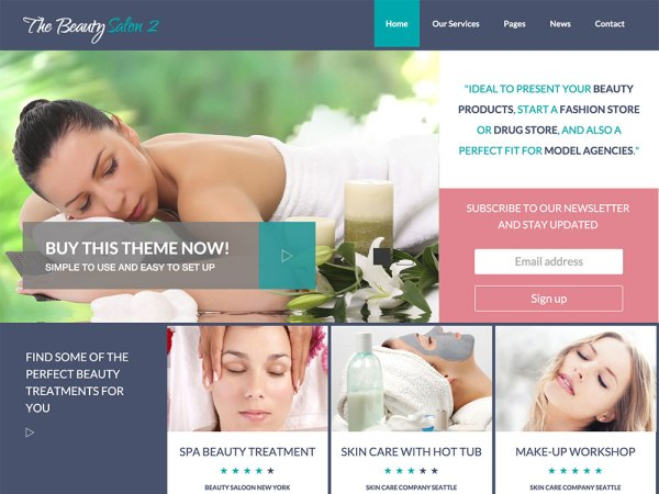 The Beauty Salon 2 - WP Theme
