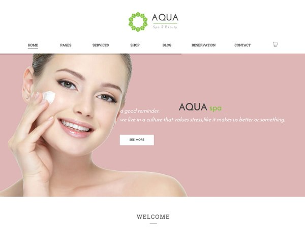 Auq Spa Worpdress Theme
