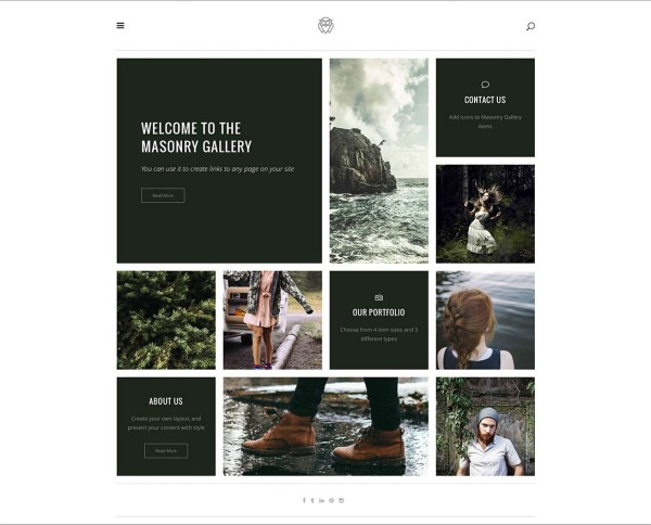 Vigor classic looking portfolio theme