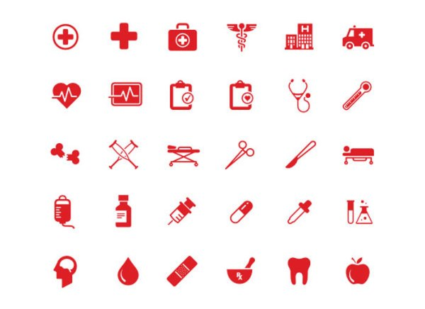 Free vector Health and Medical Icons