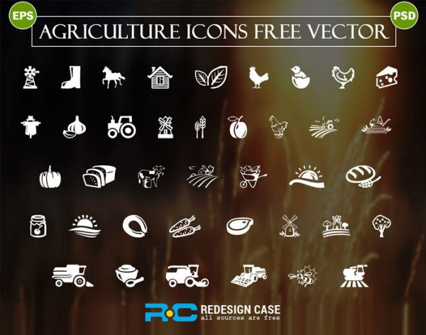 Free Agriculture Icons - Vector File