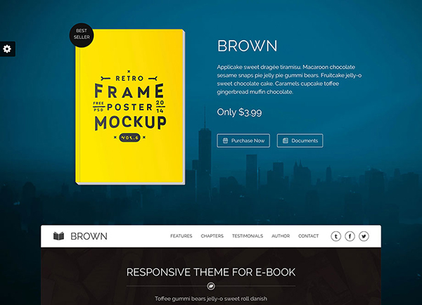 Brown one page bookstore