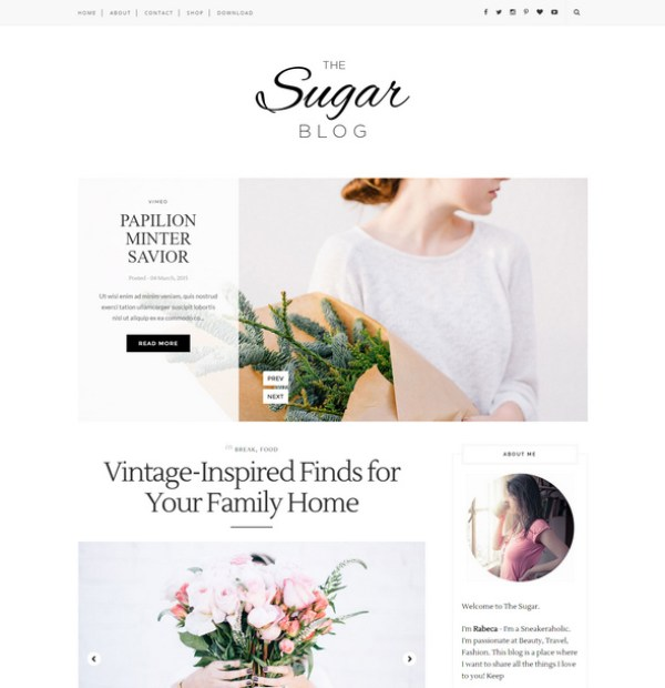 Sugar Blog Theme - Great blogging experience