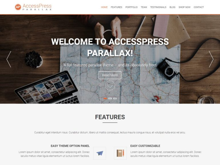 AccessPress Parallax free word press theme