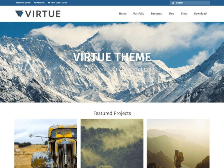 Virtue free word press theme