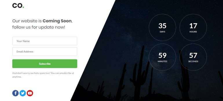 Co. coming soon template download free