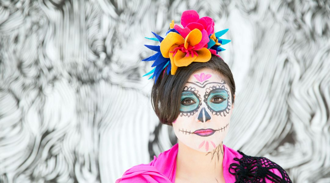 Dia De Los Muertos Face Paint By Courtney Cerruti