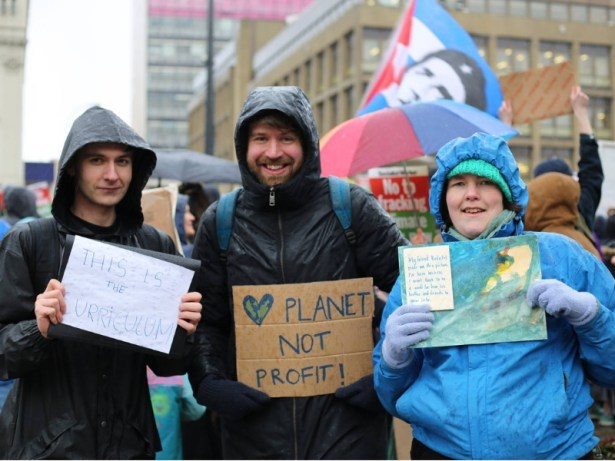 planet not profit! Demonstrating for climate action in Glasgow