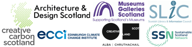Logos of the seven co-ordinating partners for Climate Beacons