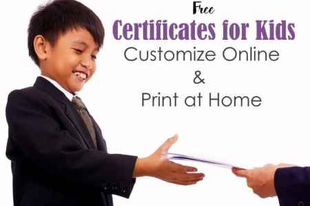 Certificates for Kids   Free and Customizable   Instant Download childrens certificates