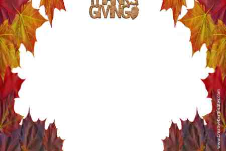 Free Thanksgiving Border Templates   Customizable   Printable Free Printable Borders