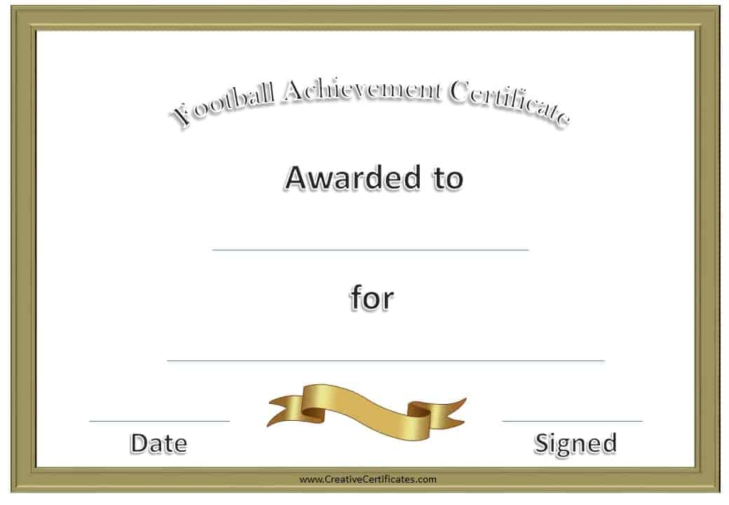 Cheerleading Samples Of Certificates