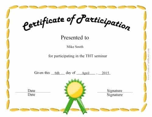 design your own award certificate template