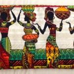 African village back