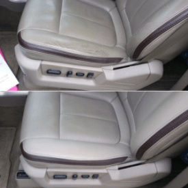 Leather Car Seat Repair Before and After