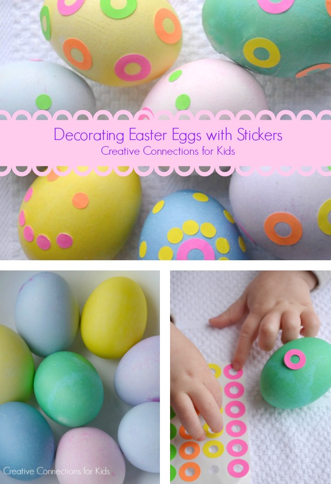 Decorating Easter Eggs with Stickers