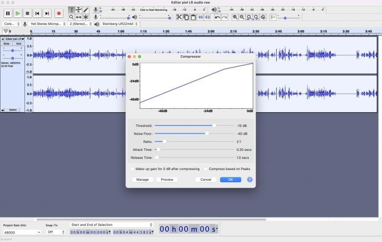 Compressor Audacity Cómo grabar y mejorar audio con Audacity, ¡un programa GRATIS!