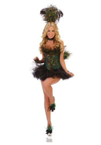 Deluxe Sexy Peacock Costume