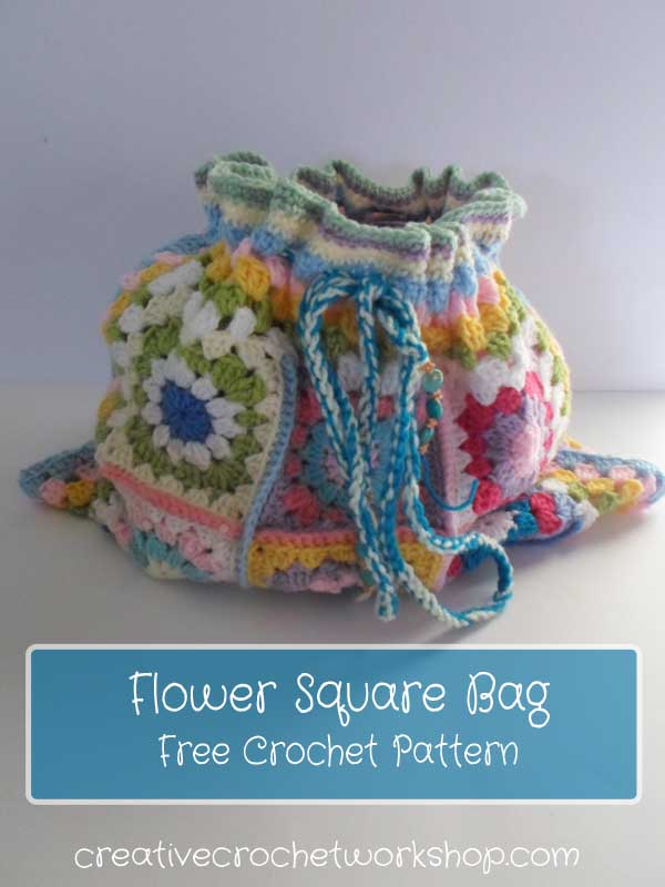 Flower Crochet Square Bag | Creative Crochet Workshop