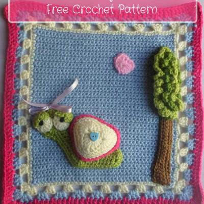 My Garden Bug Blanket – Part Two: Snail Square