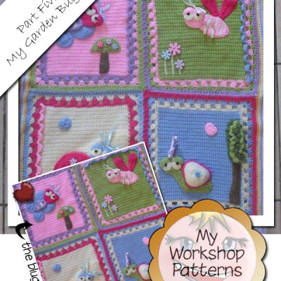 My Garden Bug Blanket – Part Five: Putting The Squares Together