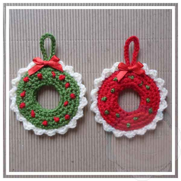 Christmas Wreath Tree Ornament Creative Crochet Workshop