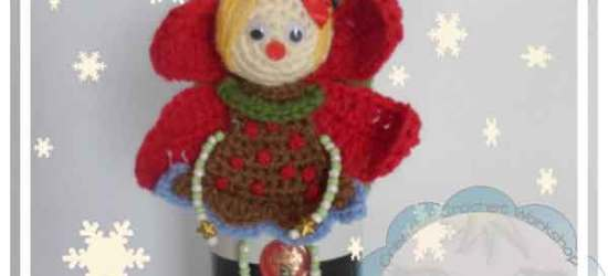 CHRISTMAS FAIRY WINE BOTTLE COZY|CREATIVE CROCHET WORKSHOP