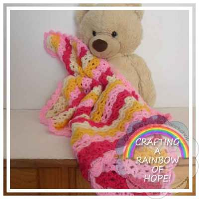 LACY STITCH BABY BLANKET|CRAFTING A RAINBOW OF HOPE|CREATIVE CROCHET WORKSHOP