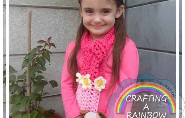 LACY STITCH SCARF|CRAFTING A RAINBOW OF HOPE|CREATIVE CROCHET WORKSHOP