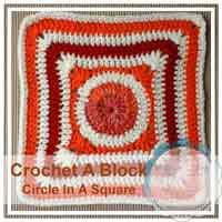 Circle In A Square granny/afghan square