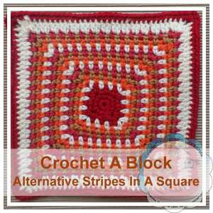 Alternative Stripes In A Square|Creative Crochet Workshop