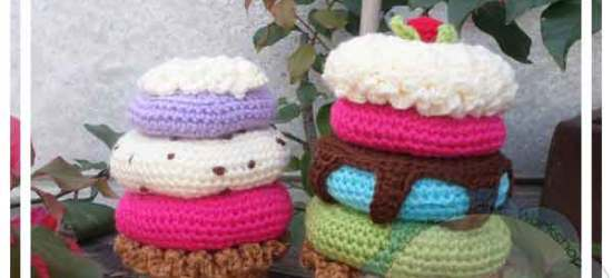 DONUT STACKED SUNDAE AMIGURUMI TOY|CREATIVE CROCHET WORKSHOP