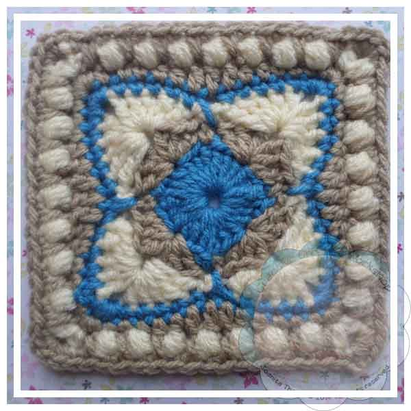 Ester's Tote Cornered Diamonds Blue|Creative Crochet Workshop