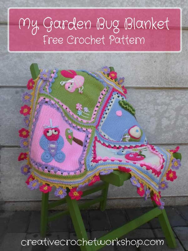 My Garden Bug Blanket - Free Crochet Pattern | Creative Crochet Workshop