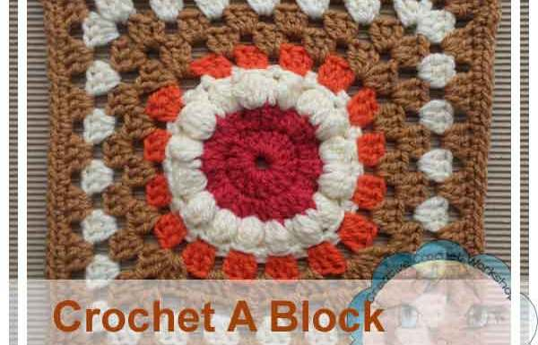 PUFF FLOWER GRANNY SQUARE|CROCHET A BLOCK SERIES|CREATIVE CROCHET WORKSHOP