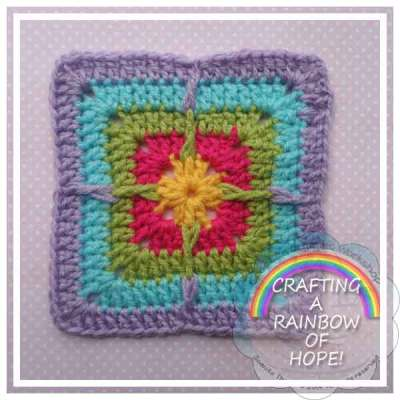 SIDE SPIKY SQUARE|RAINBOW SQUARE SERIES|CREATIVE CROCHET WORKSHOP