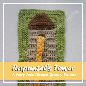 RAPUNZEL'S TOWER|A FAIRY TALE THEMED GRANNY SQUARE|CREATIVE CROCHET WORKSHOP