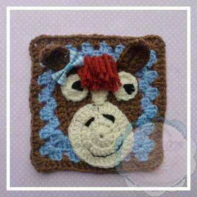 THE HORSY|CUTESY ANIMAL GRANNY SQUARE|CREATIVE CROCHET WORKSHOP