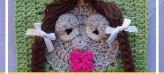 THE KISSING PRINCESS|A FAIRY TALE THEMED GRANNY SQUARE|CREATIVE CROCHET WORKSHOP