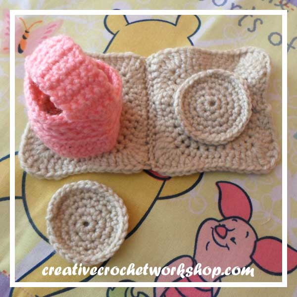 LITTLE COOKIE BAKING SET|COOKIECUTTER, COOKIE DOUGH AND COOKIE|CREATIVE CROCHET WORKSHOP
