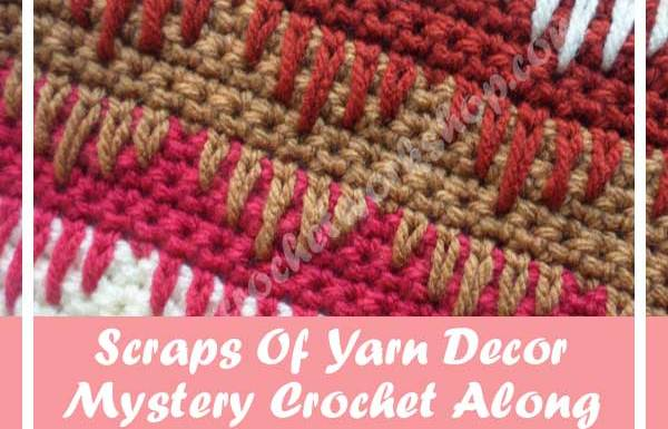 SCRAPS OF YARN CUSHION MYSTERY CAL|AUGUST 2016 PART FIVE|CREATIVE CROCHET WORKSHOP