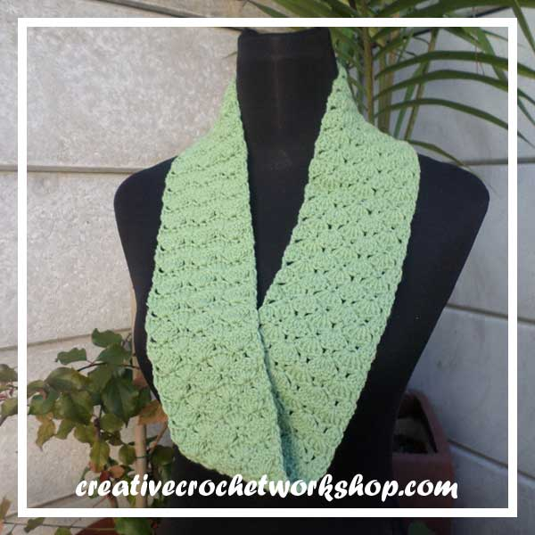 LACY FAN INFINITY SCARF PREVIEW FULL|SCARF OF THE MONTH 2016|CREATIVE CROCHET WORKSHOP