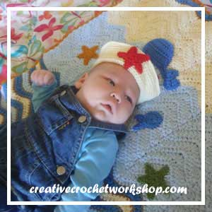 LITTLE SAILOR SET PART ONE|LITTLE SAILOR HAT STEP 2|CREATIVE CROCHET WORKSHOP