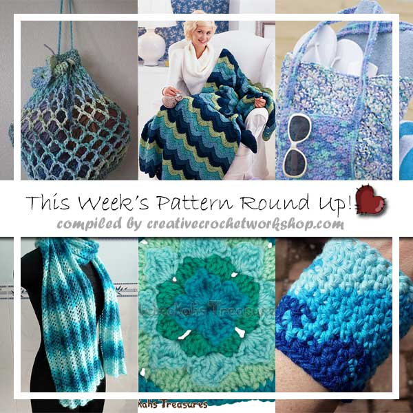 OCEAN INSPIRED CROCHET PATTERNS|2016 SEPTEMBER PATTERN ROUND UP|CREATIVE CROCHET WORKSHOP