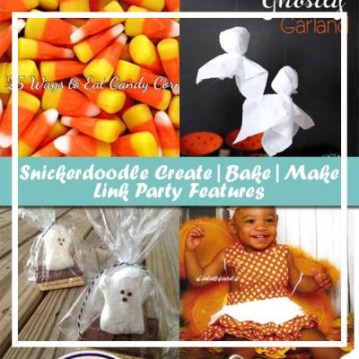 Snickerdoodle Create, Bake & Make Linky Party # 154 – Candy Corn Ghosts