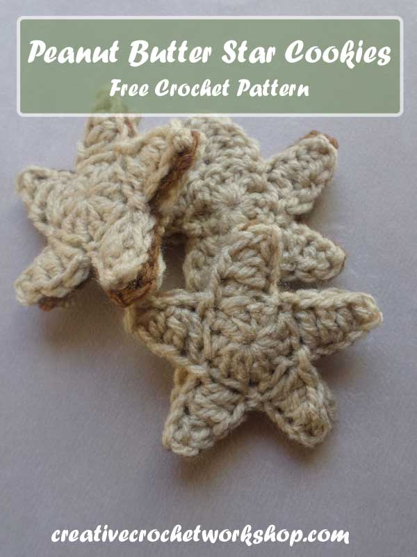 PEANUT BUTTER STAR COOKIES | CREATIVE CROCHET WORKSHOP
